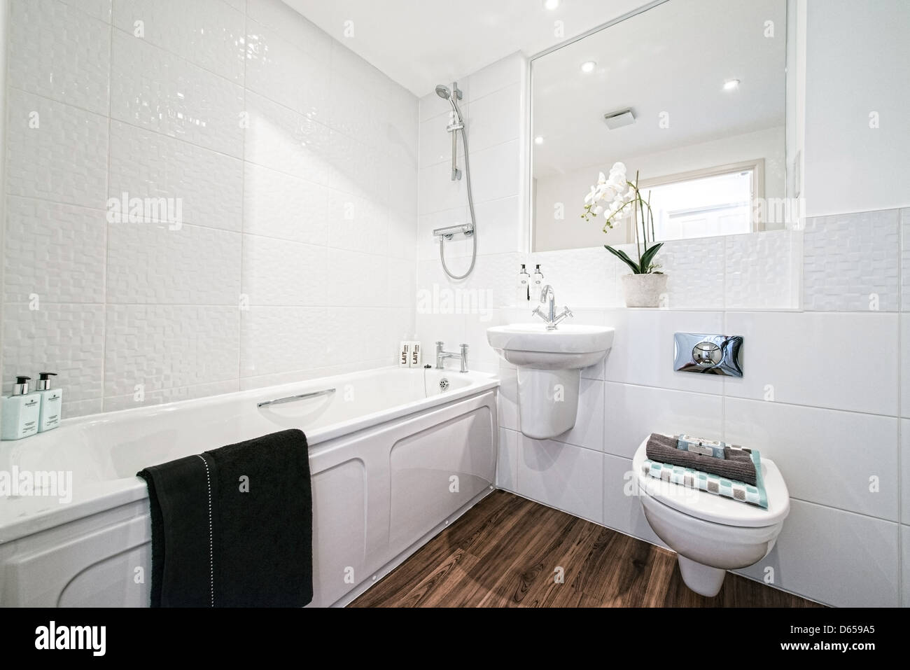 A typical modern bathroom - Stock Image