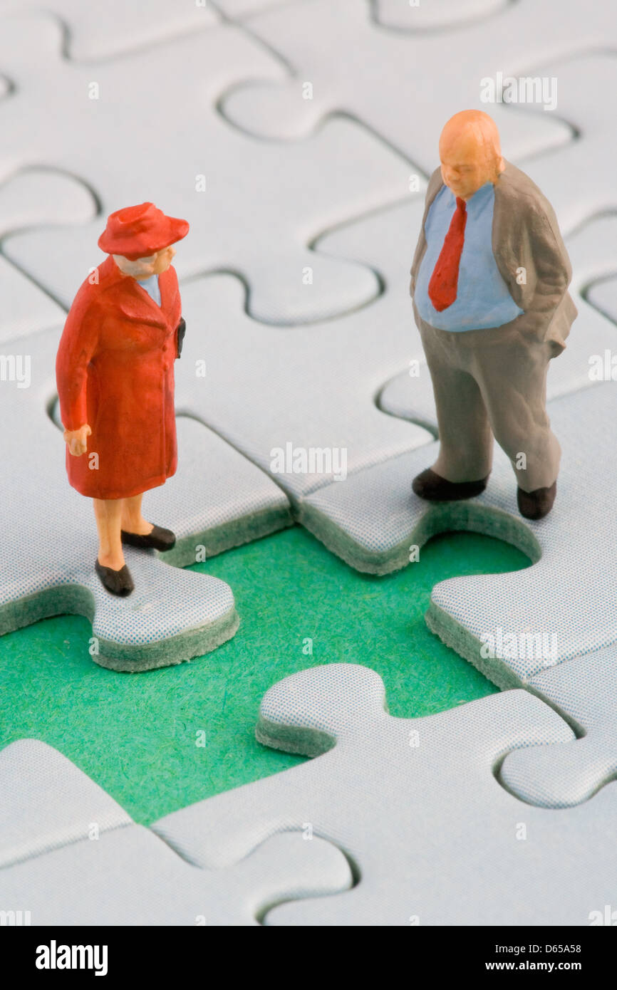 social issues,figurine,courtship - Stock Image