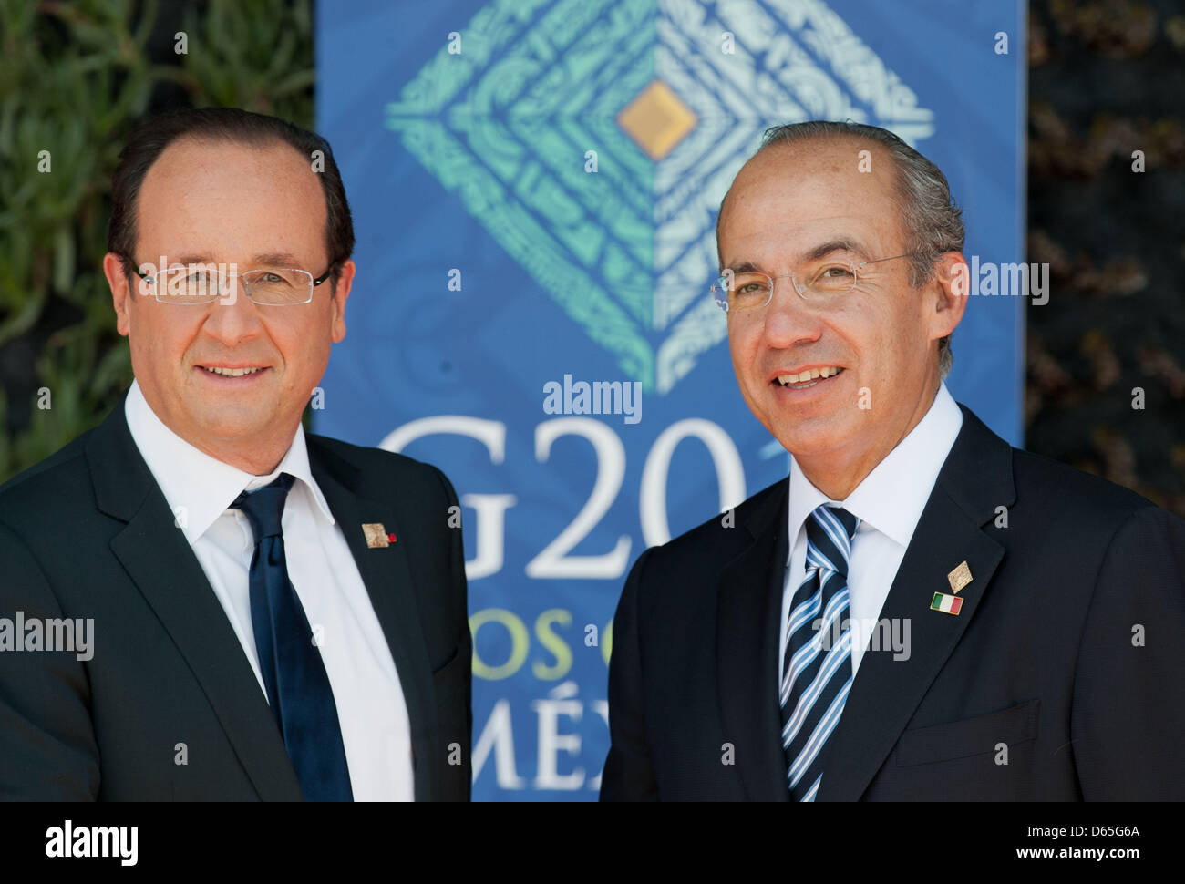 Mexican president felipe calderon r and french president francois mexican president felipe calderon r and french president francois hollande greet each other before the first meeting at the g20 summit in losa cabos m4hsunfo