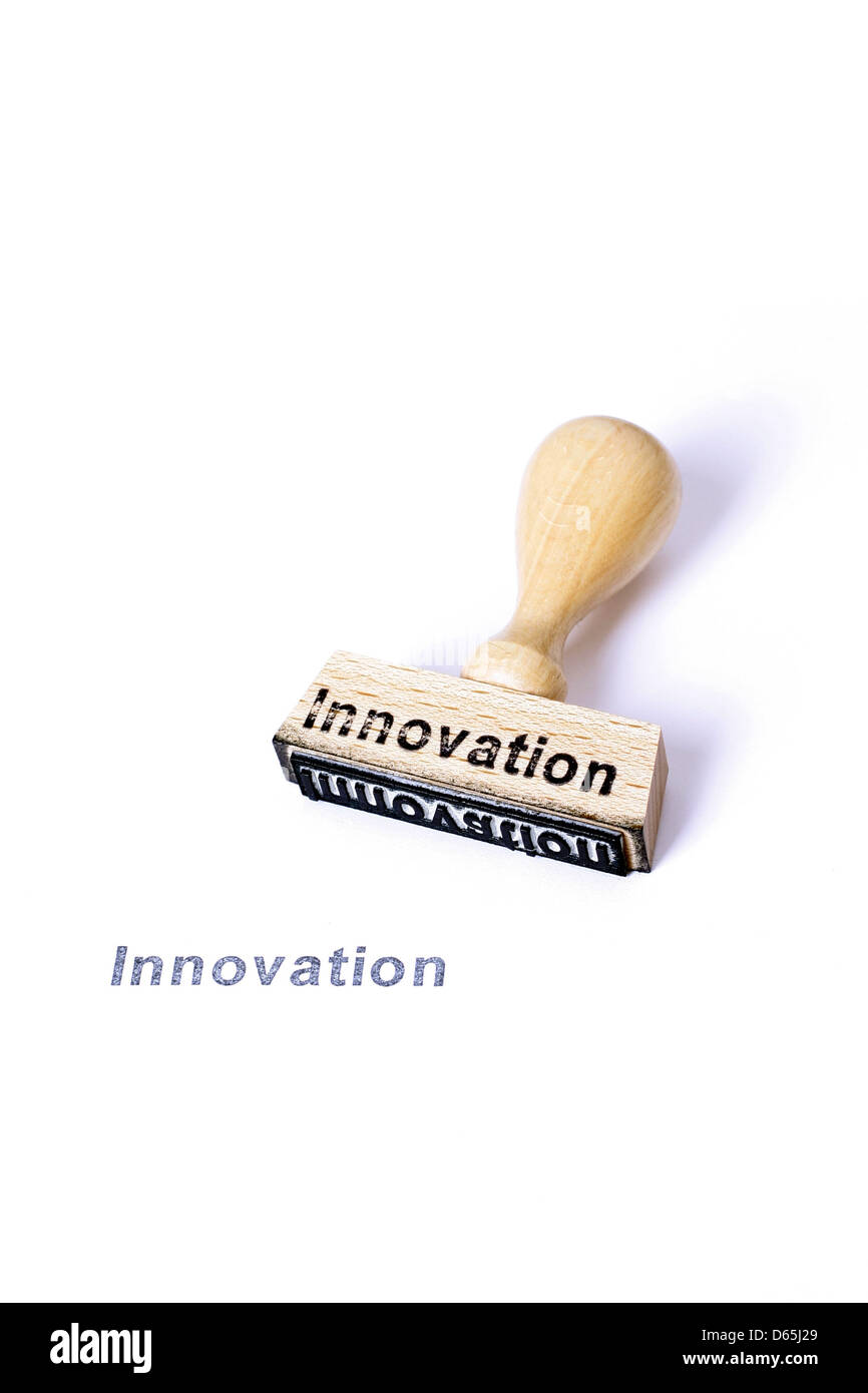 rubber stamp,innovation - Stock Image