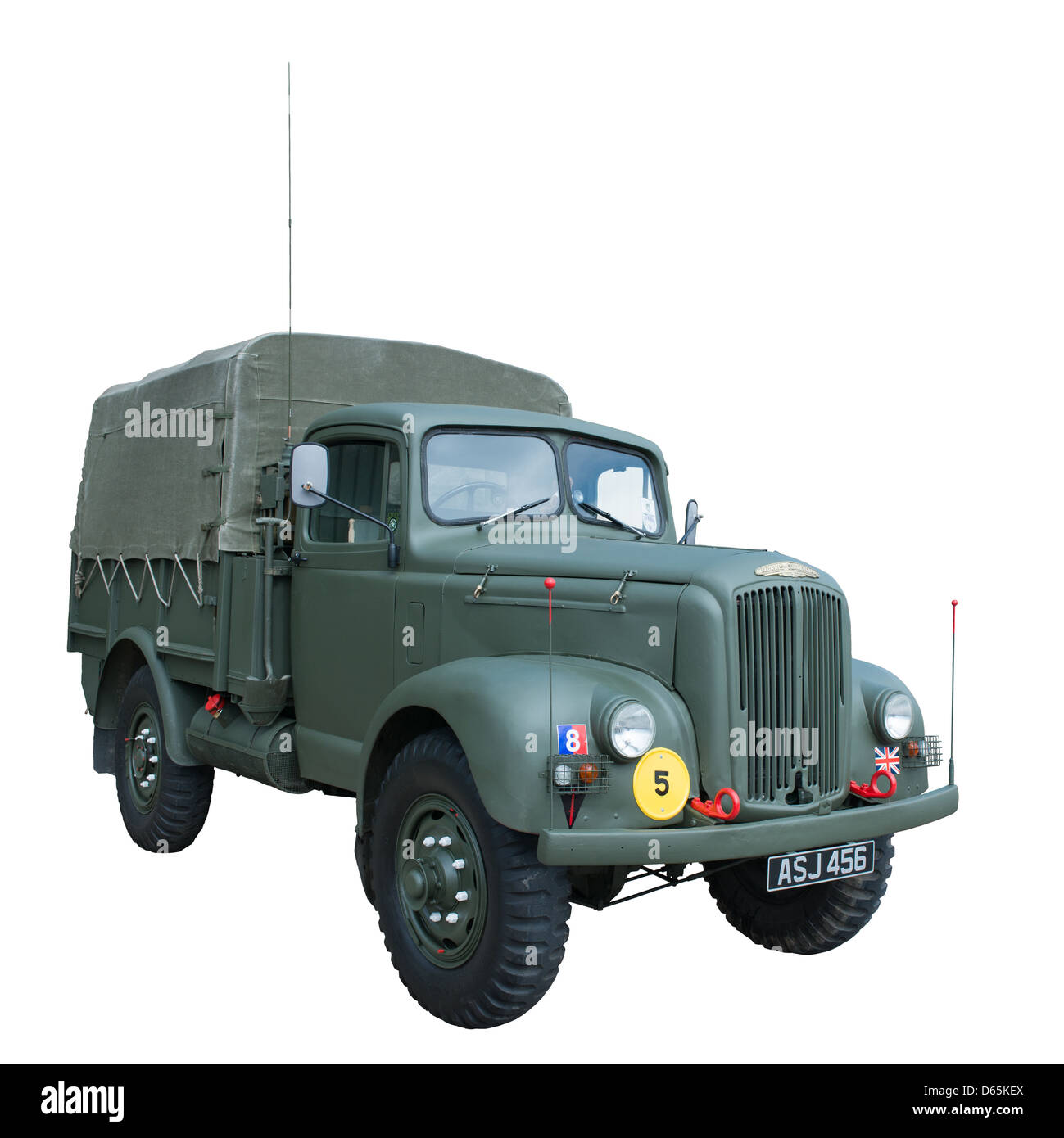 A cut out of Morris Commercial MRA1 GS Cargo (1952) used by British & allied forces - Stock Image