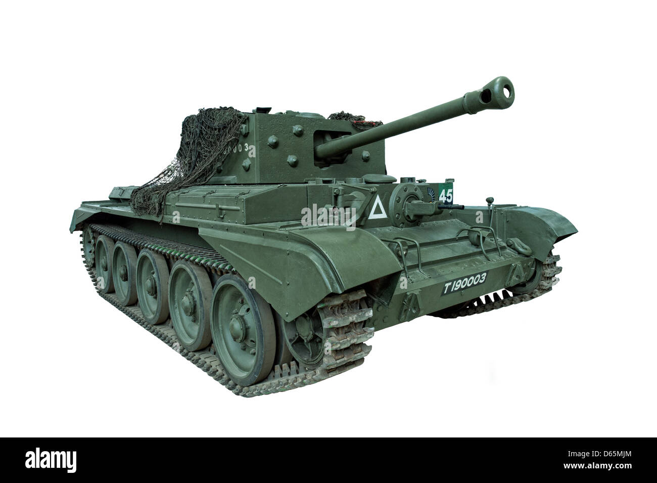 A cut out of a Cromwell Tank, isolated. Used by British & allied forces during WW2 - Stock Image