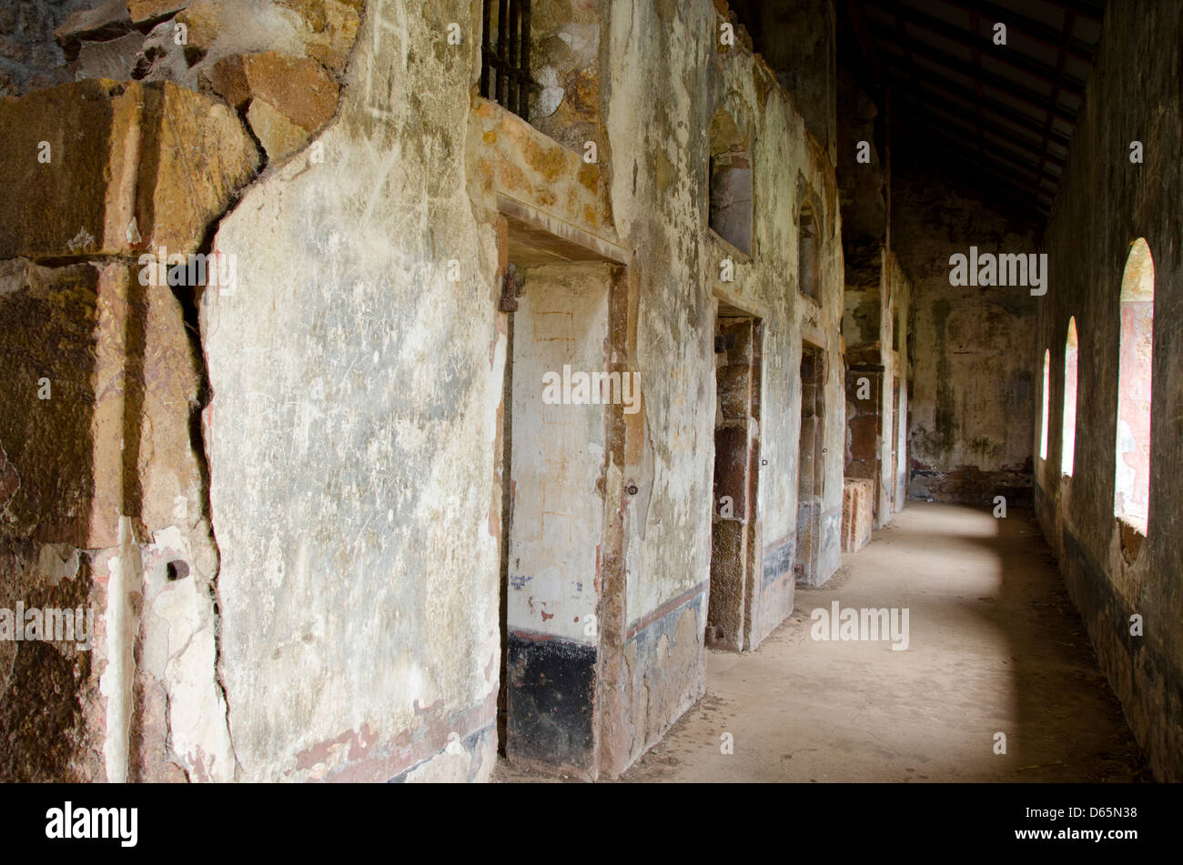 French Overseas Territory, French Guiana, Salvation Islands. Ile Royale, ruins of the infamous penal colony. - Stock Image