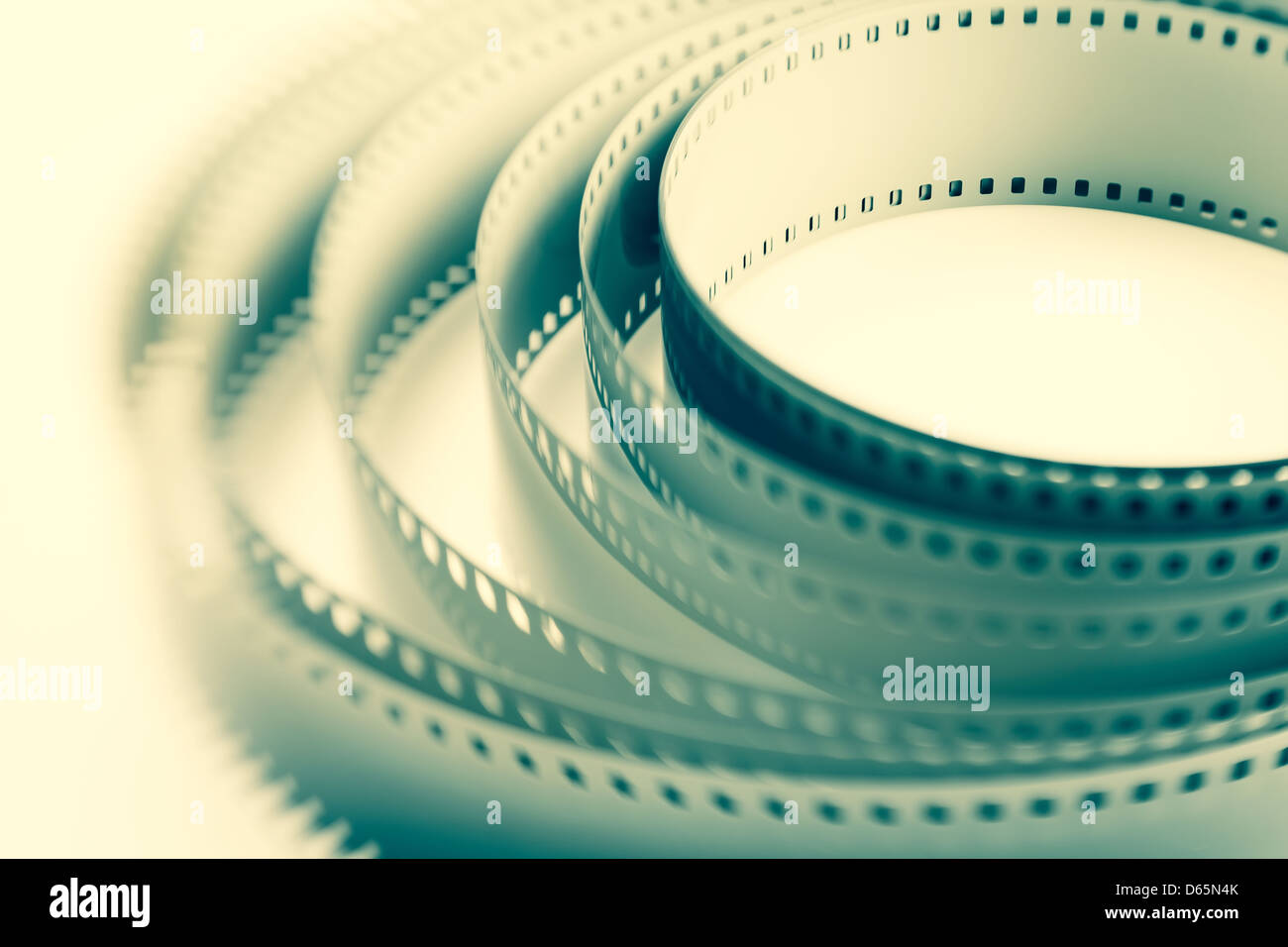 filmstrip roll dynamic full frame closeup - Stock Image