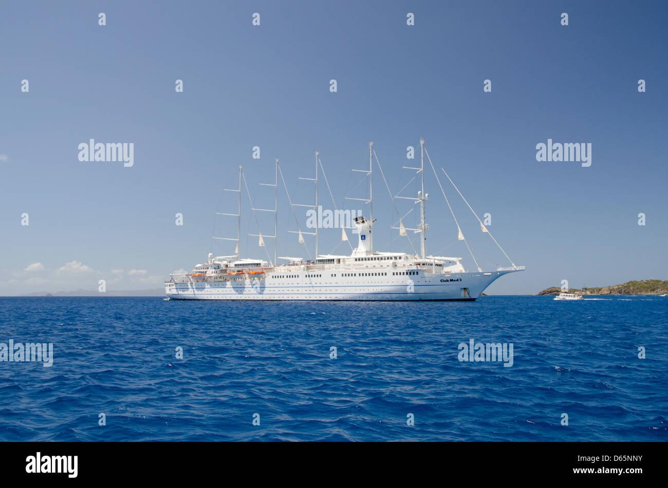 French West Indies, Caribbean island of Saint Bartholemy (aka St. Barts), capital city of Gustavia. - Stock Image