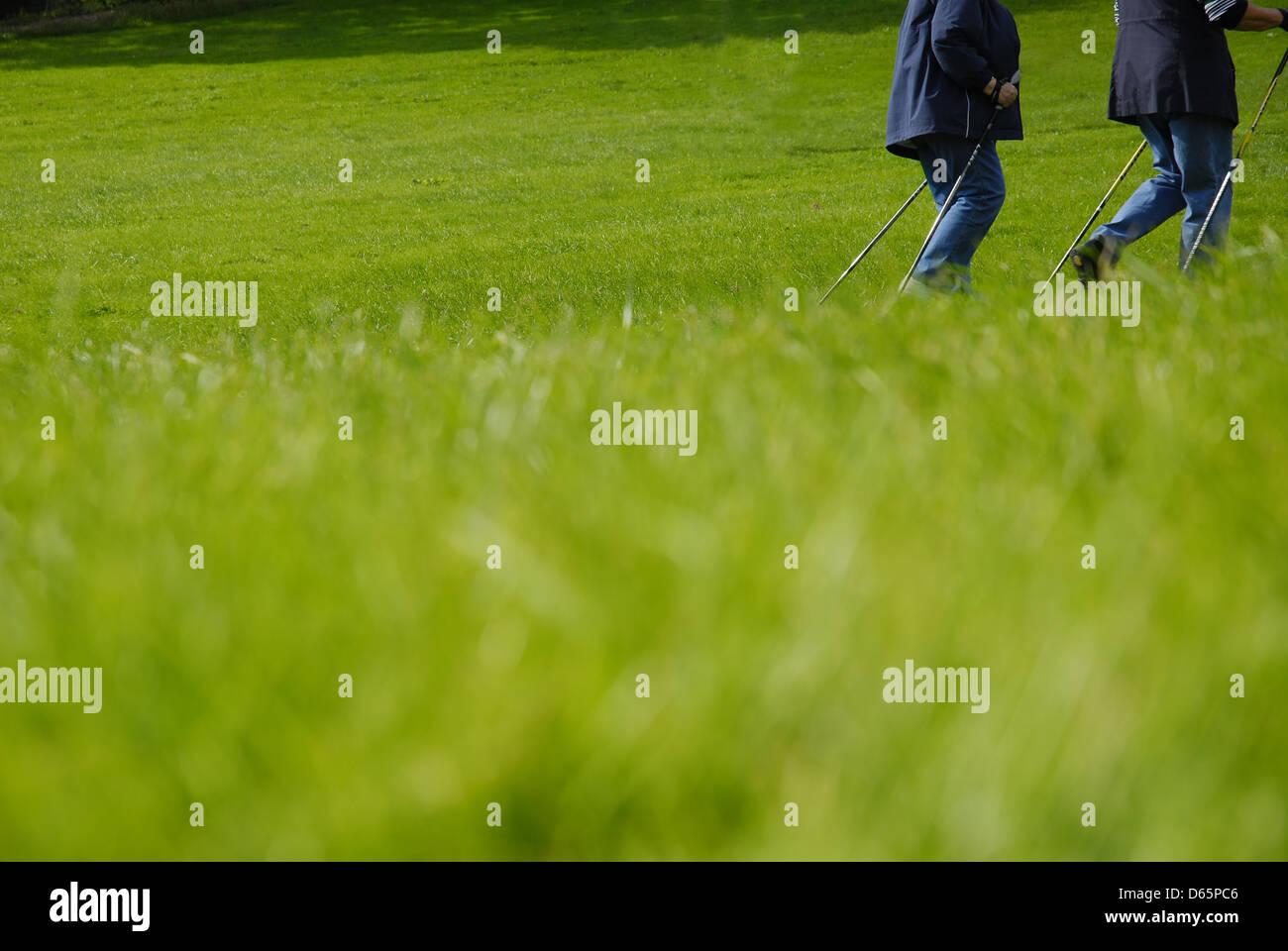 sports,fitness,leisure,nordic walking - Stock Image