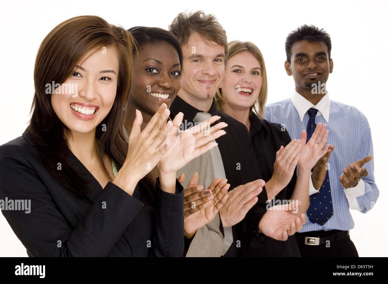 business,group,clapping - Stock Image