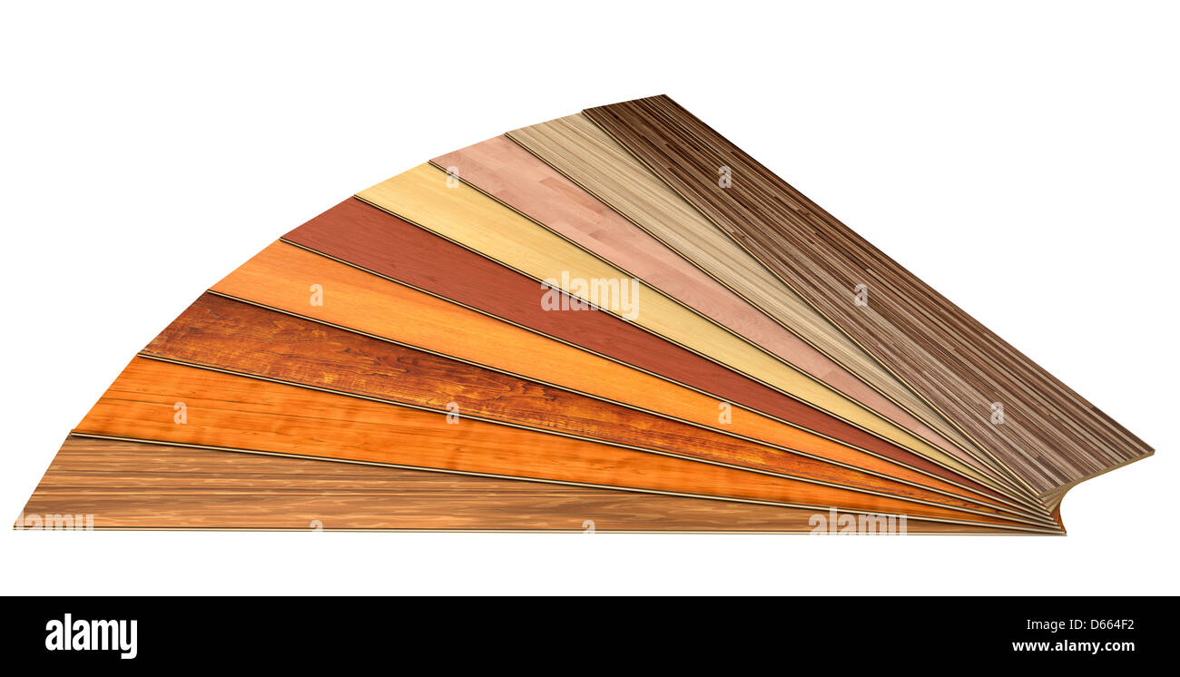 wooden laminated construction planks isolated on white background with clipping path - Stock Image