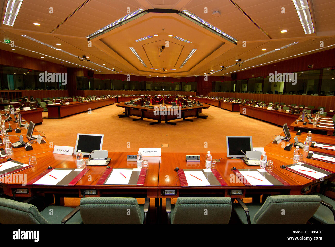 european council chamber - Stock Image