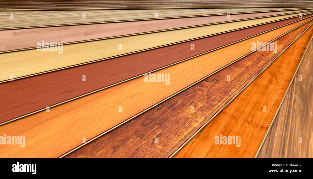 wooden laminated construction planks - Stock Image