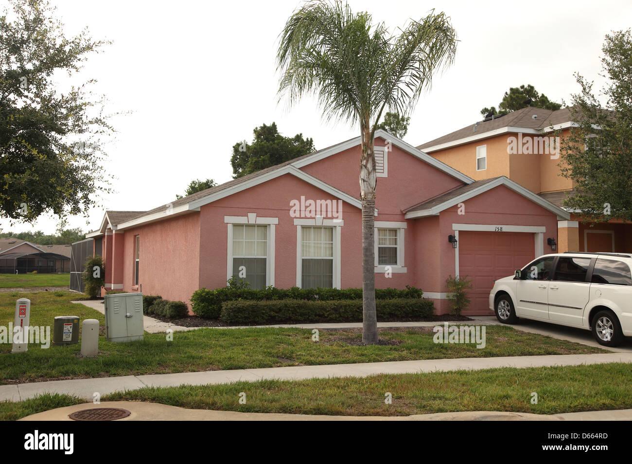 modern american villa home in florida in a smart residential estate