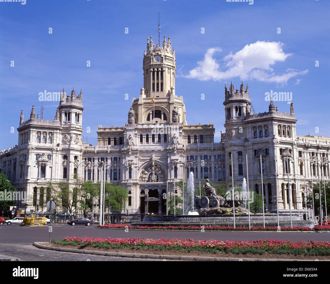 The Cibeles Palace Palacio De Cibeles Plaza De Cibeles