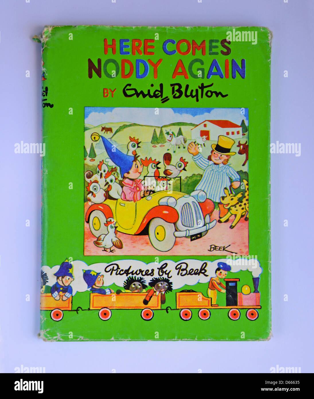 Enid Blyton's 'Here comes Noddy again' Noddy book, Ascot, Windsor, Berkshire, England, United Kingdom - Stock Image