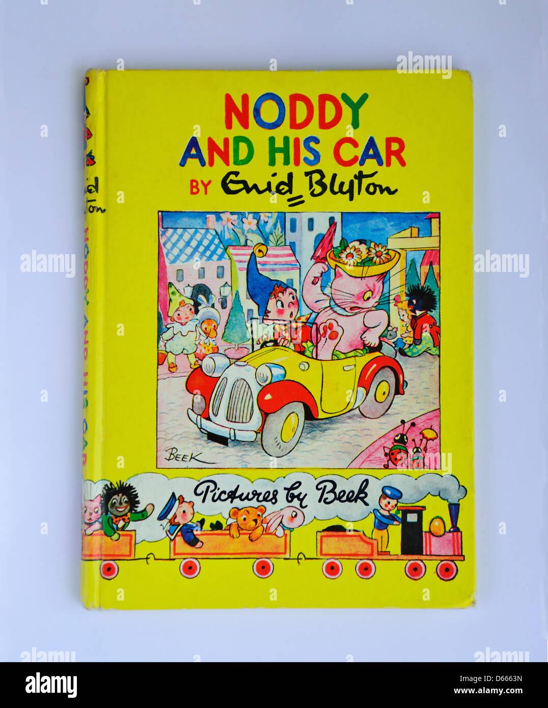 Enid Blyton's 'Noddy and his car' Noddy book, Ascot, Windsor, Berkshire, England, United Kingdom - Stock Image