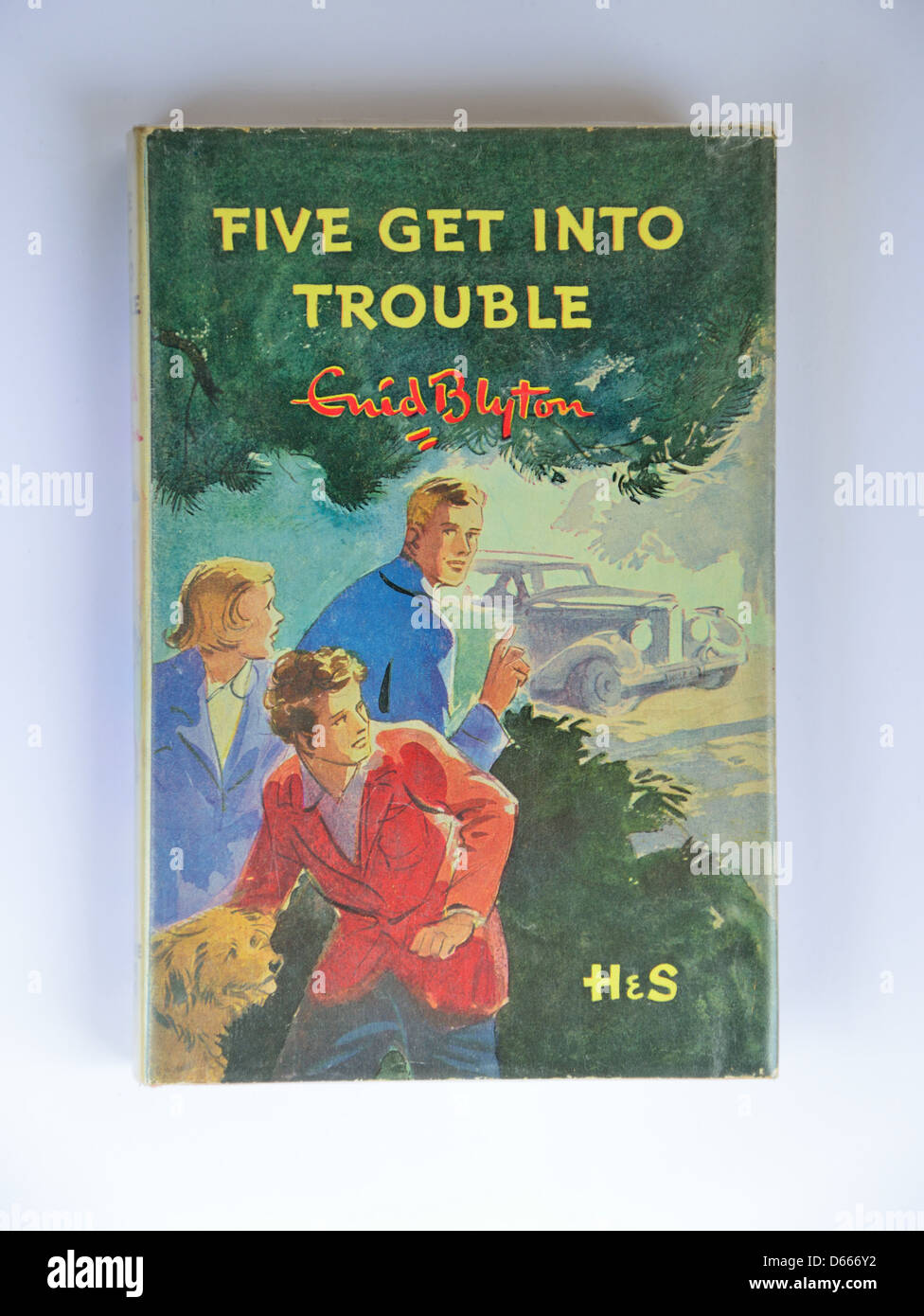 Enid Blyton's 'Five get into trouble' eighth Famous Five book, Ascot, Windsor, Berkshire, England, United - Stock Image