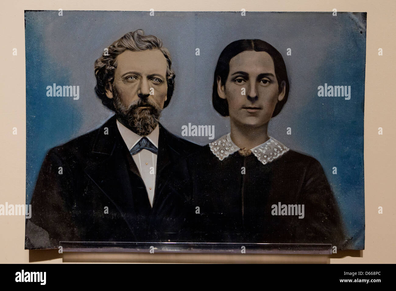1800s tintype photograph - Stock Image
