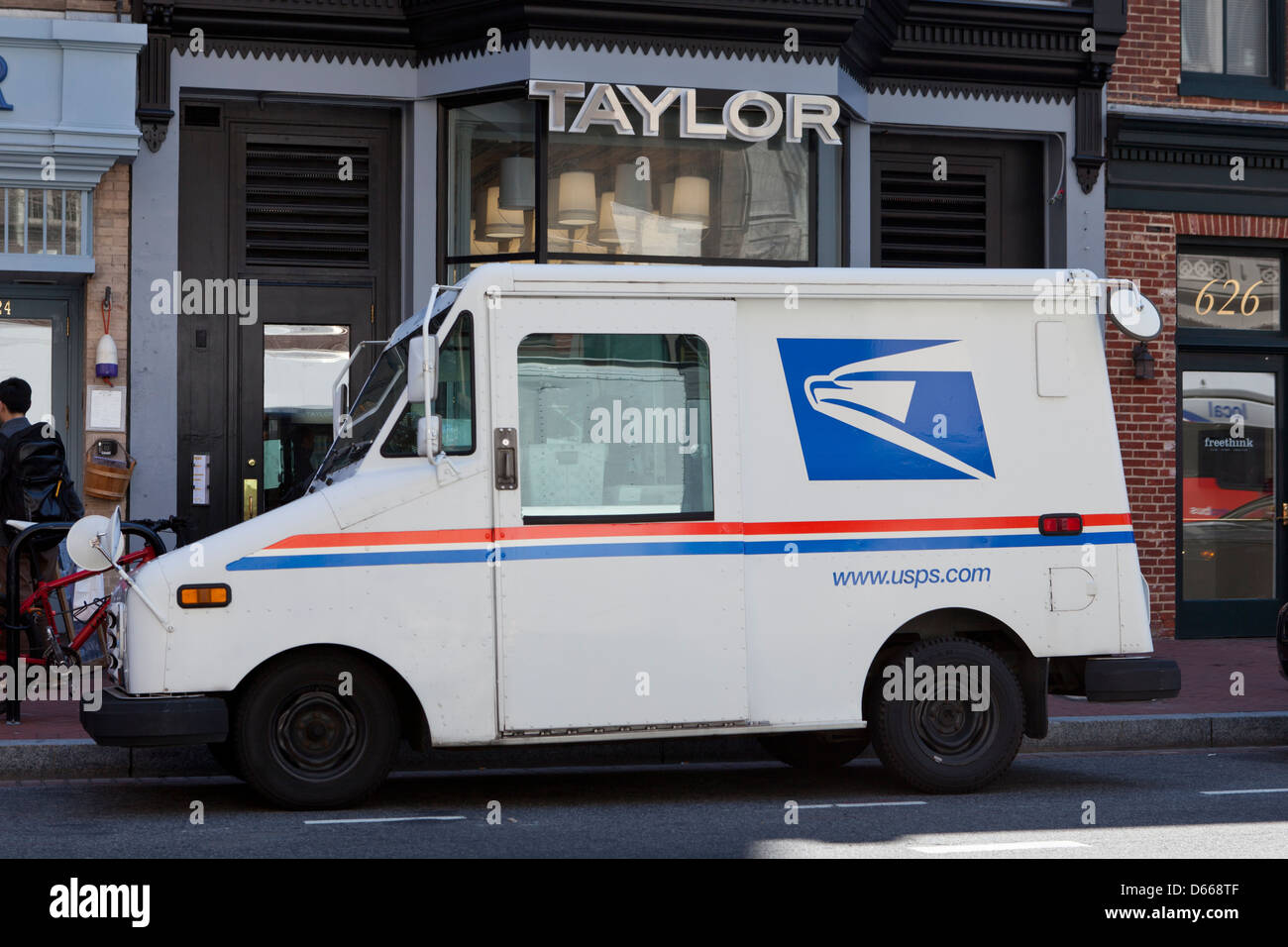 US Mail delivery truck - USA - Stock Image
