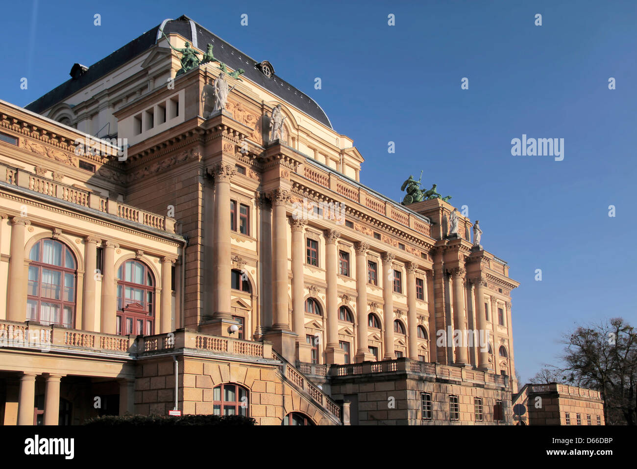 Hessian State Theatre in Wiesbaden, Hesse, Germany - Stock Image