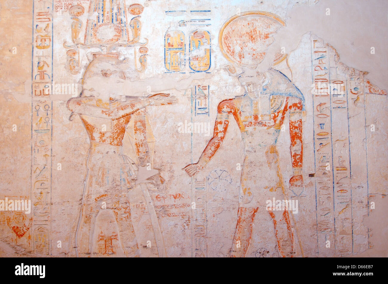 The Interior of Ramesses IVu0027s KV2 royal tomb East Valley of the Kings Luxor (Thebes) Egypt Africa & The Interior of Ramesses IVu0027s KV2 royal tomb East Valley of the ...