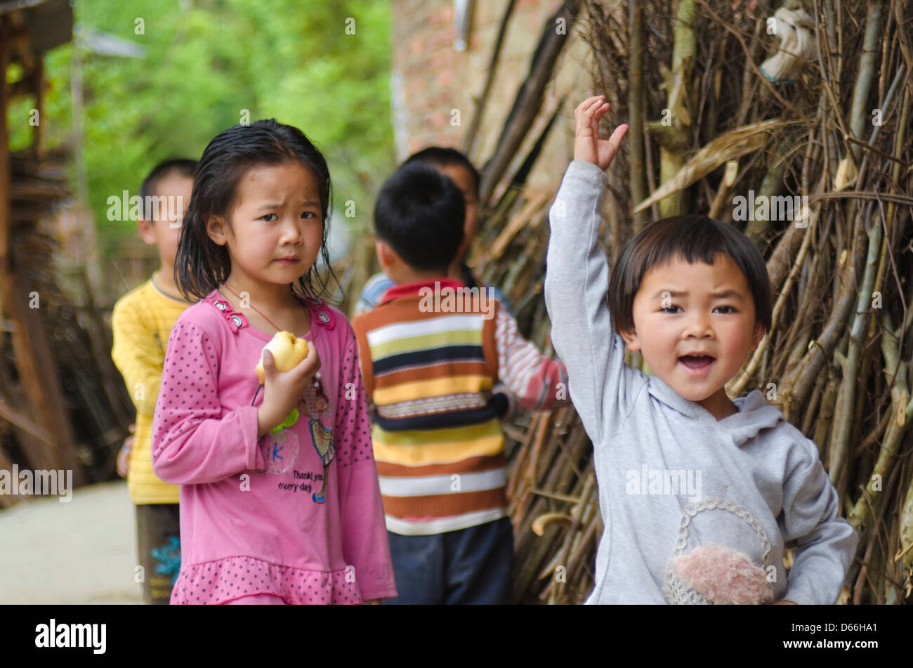 China boy greeting stock photos china boy greeting stock images boy greets in a dong village in guizhou china stock image m4hsunfo