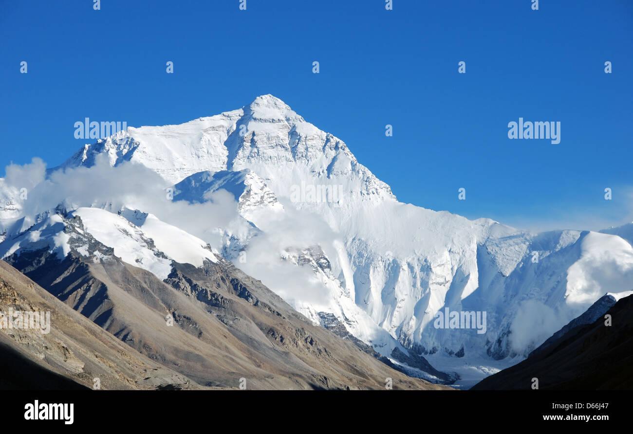 High peak of Mount Everest - Stock Image