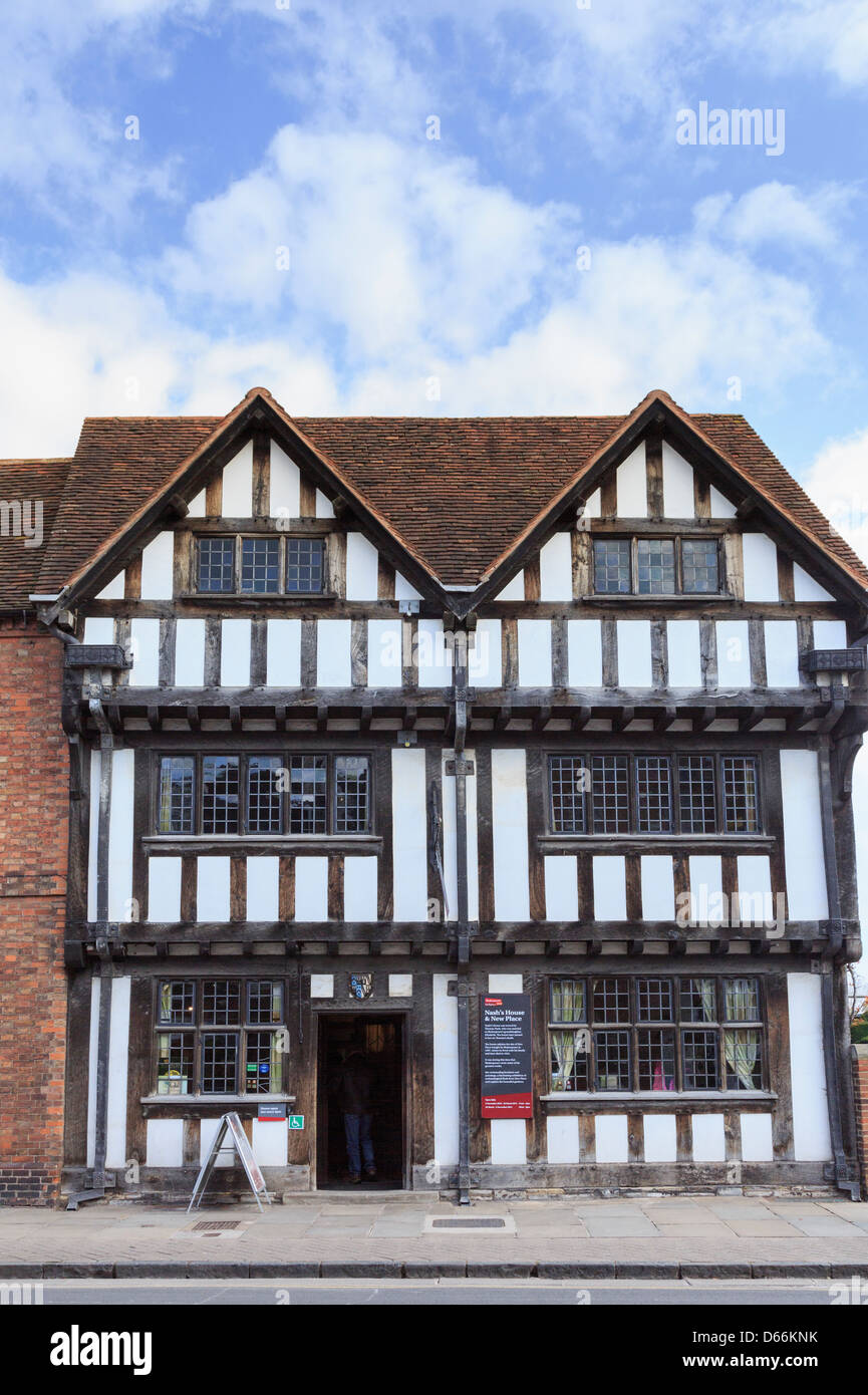 Nash's House museum once owned by Shakespeare's grand daughter Elizabeth Nash Stratford-upon-Avon Warwickshire - Stock Image