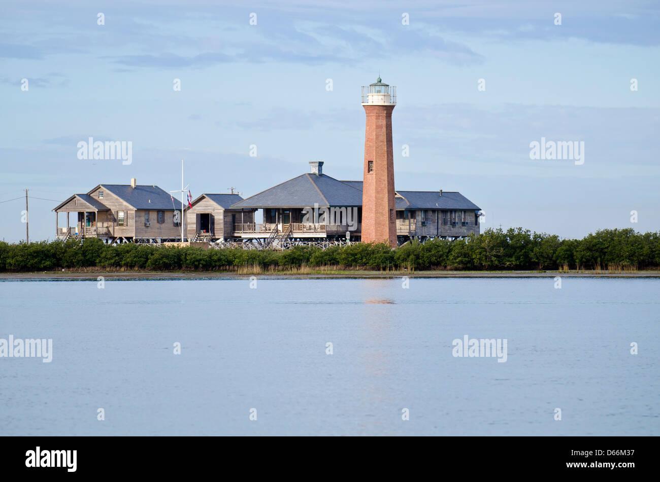 Lydia Ann Lighthouse near Port Aransas, Texas, USA - Stock Image