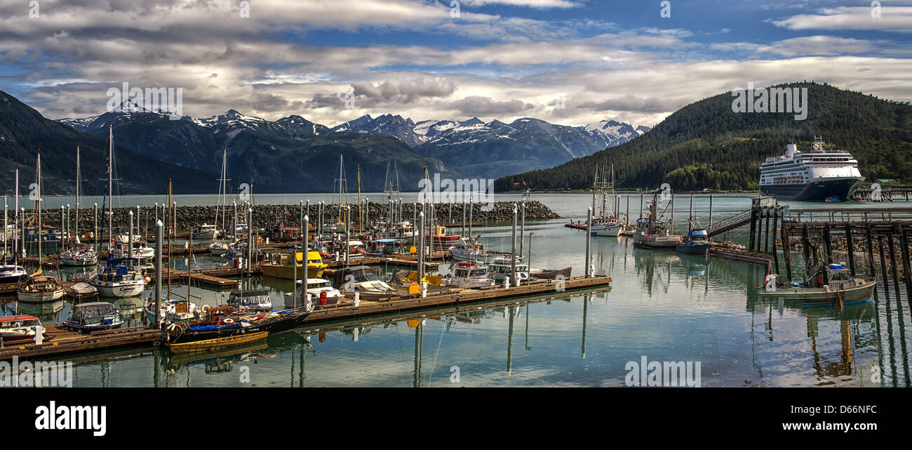 The harbor view at Haines  Alaska - Stock Image
