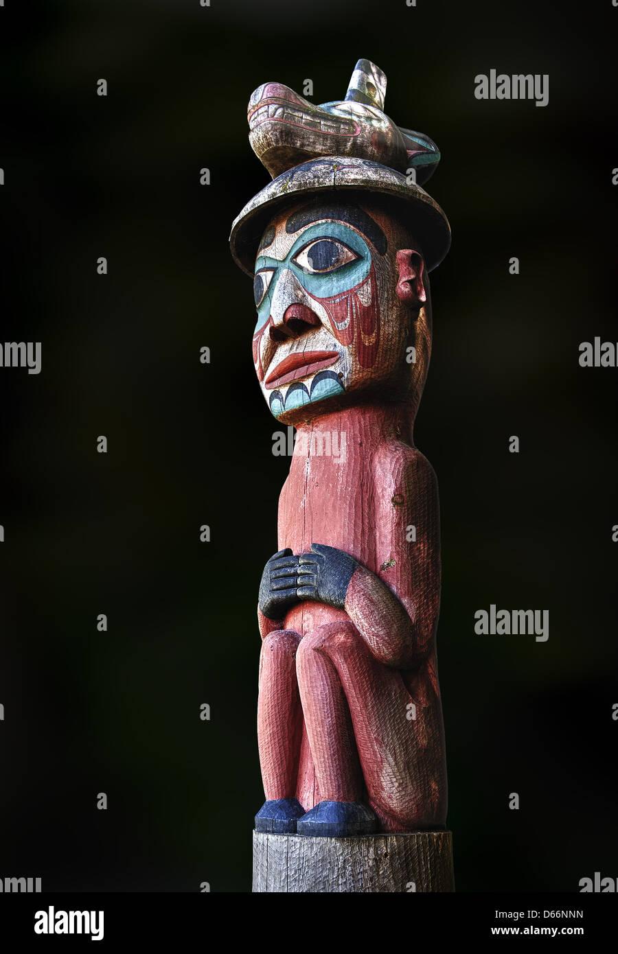 The Tongass Watchman totem - Stock Image