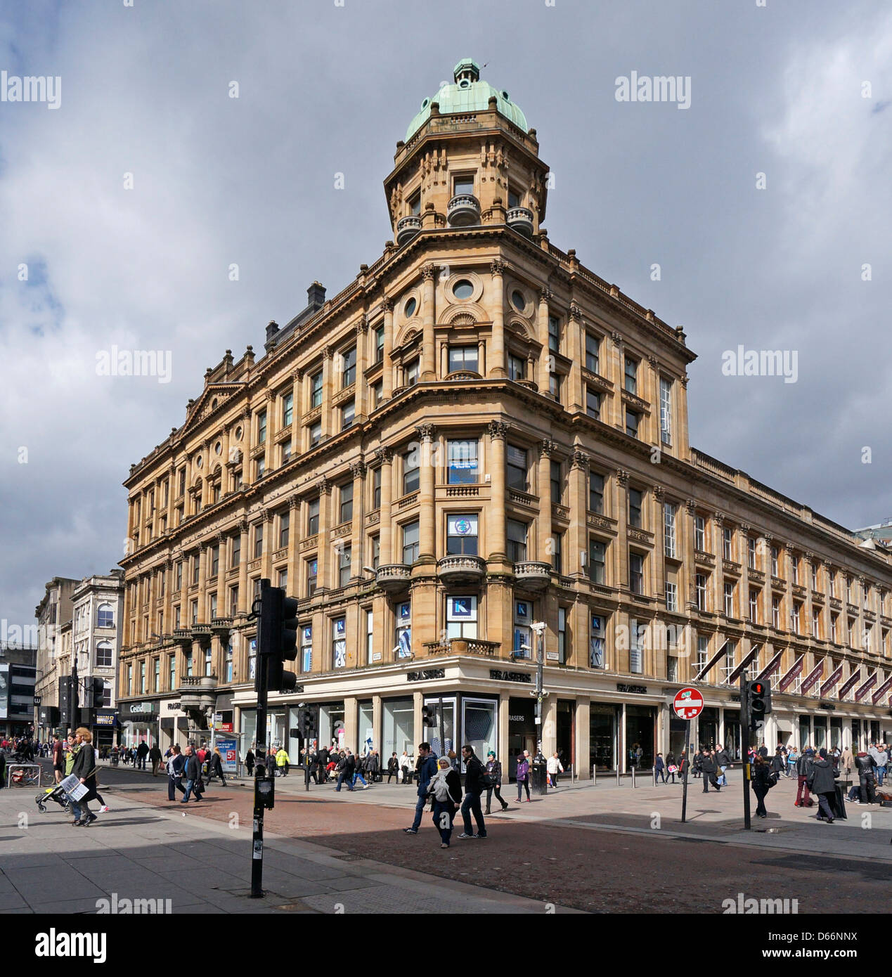 House of Fraser department store on the corner of Buchanan Street and Argyle Street in Glasgow Scotland - Stock Image
