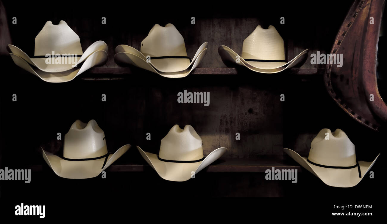 cowboy hats in a western store Stock Photo  55467852 - Alamy f83b2f517d7