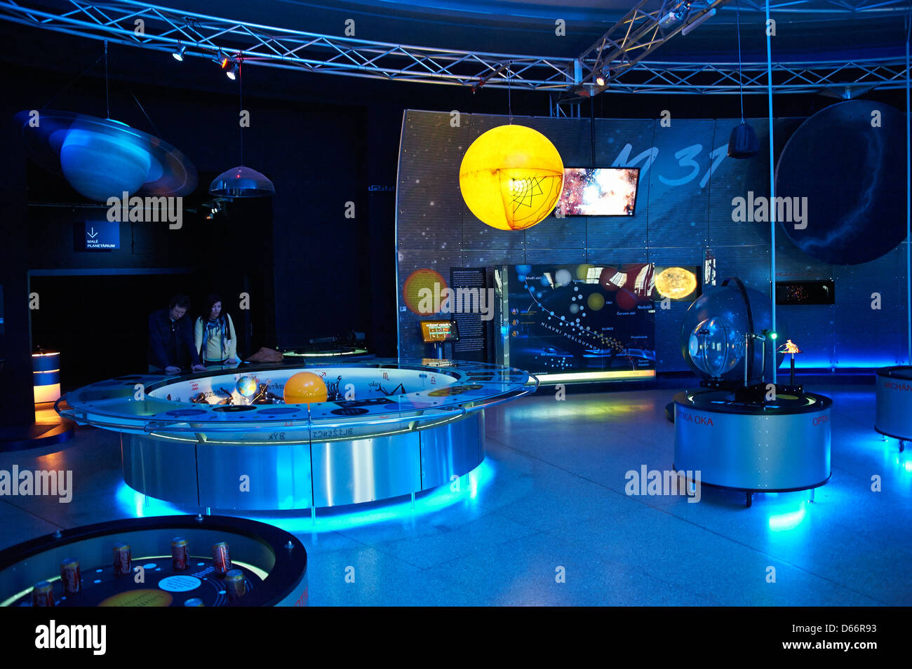Planetarium Observatory, Stromovka park, Holesovice, Prague, Czech Republic - Stock Image