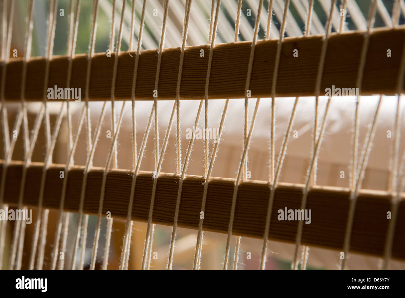 Part of a loom - Stock Image
