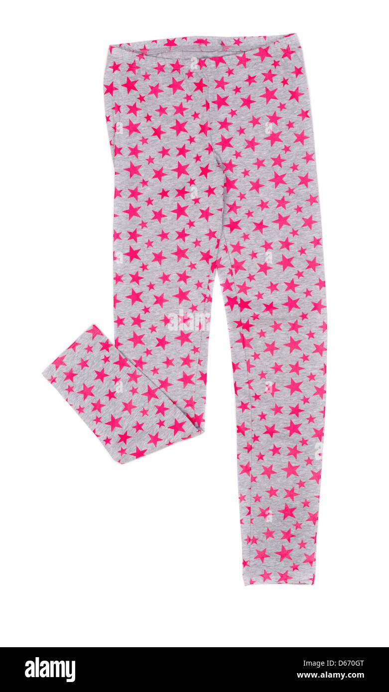 ladies leggings with star pattern - Stock Image