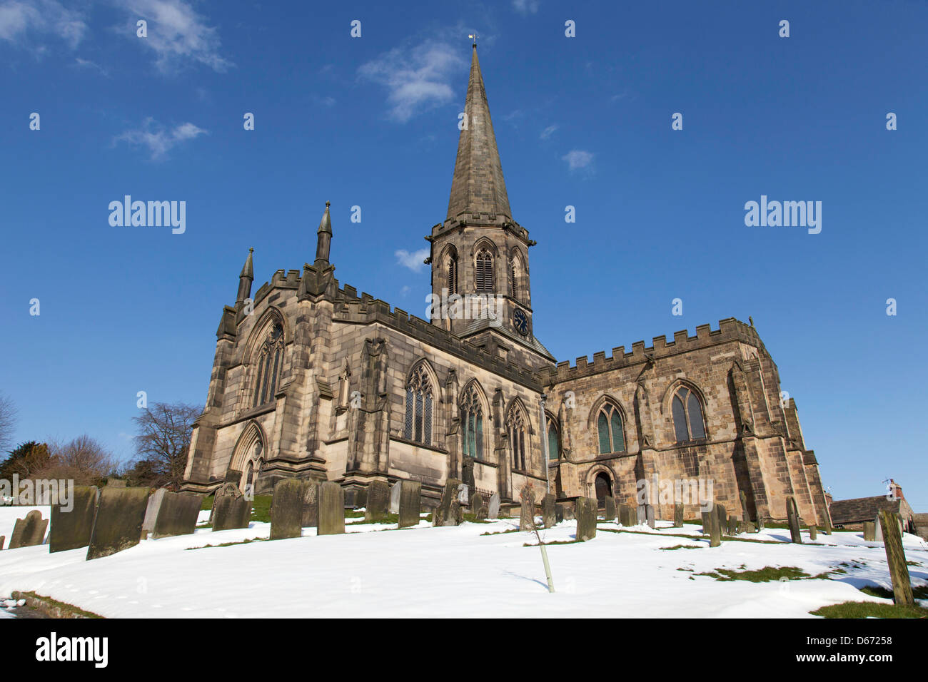 All Saints Church, Bakewell, Derbyshire, England, U.K. - Stock Image