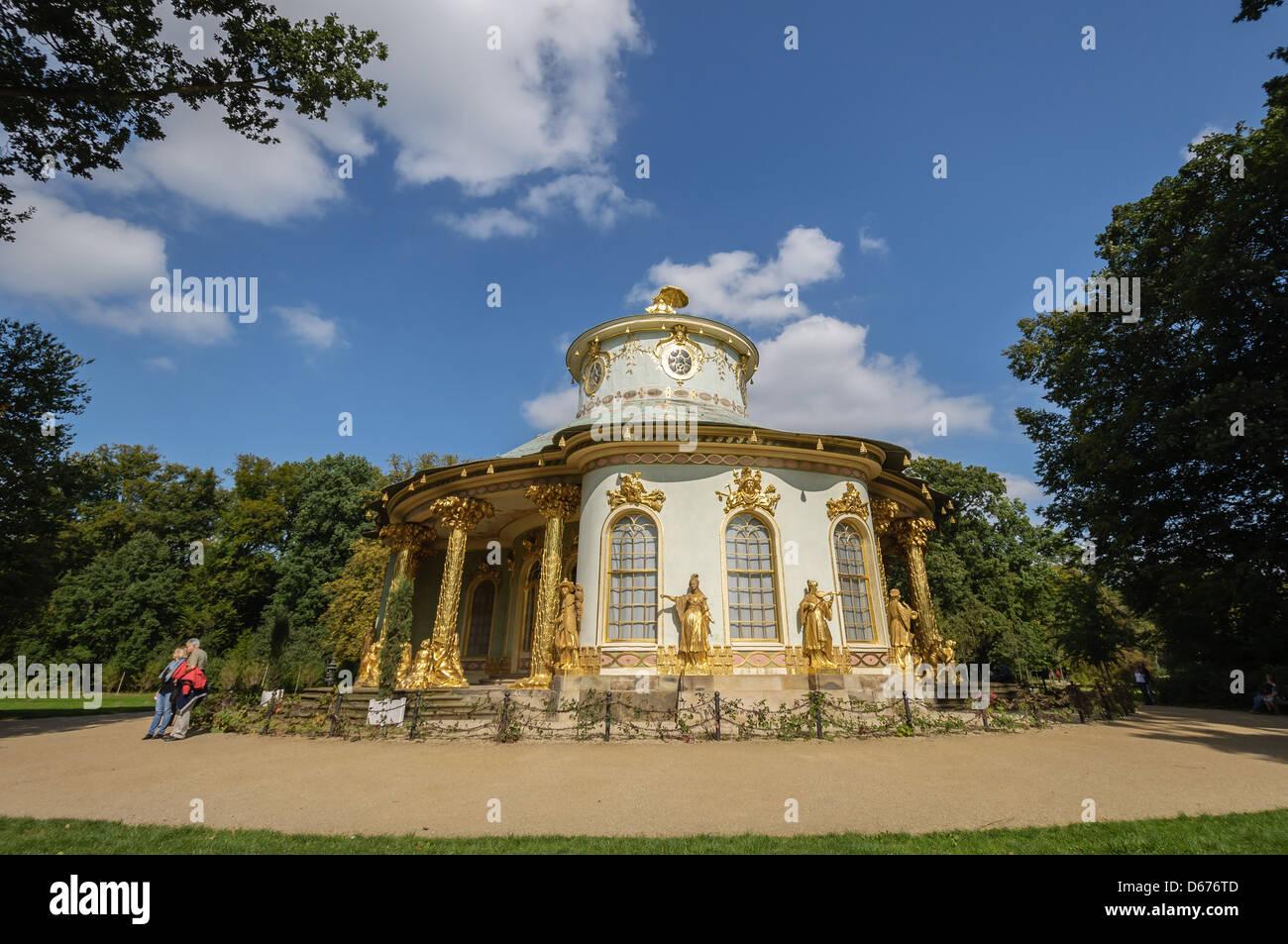 Chinese tea house in Sanssouci Park. Potsdam, Germany. - Stock Image