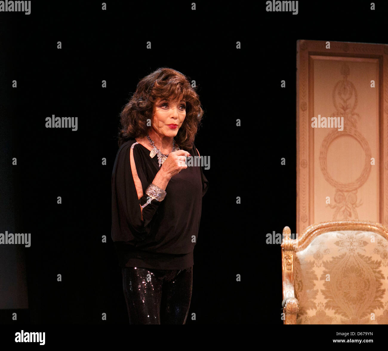 ONE NIGHT WITH JOAN with Joan Collins at the Leicester Square Theatre, London WC2 from 12/04/2013 - Stock Image