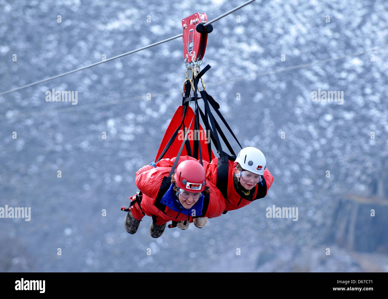 Zip World Bethesda, Gwynedd Stock Photos & Zip World Bethesda ...