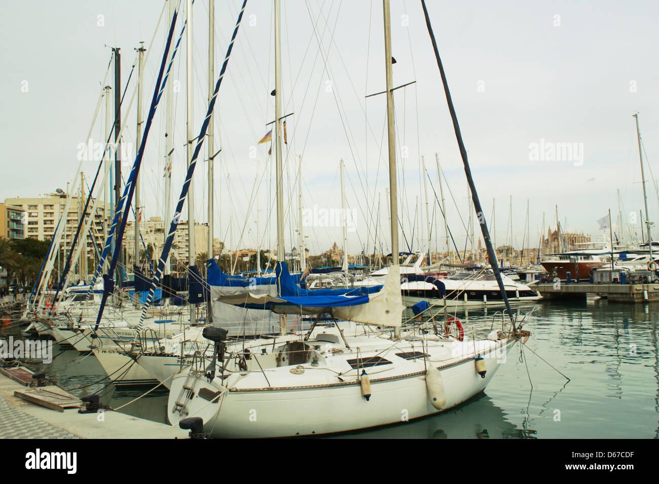 Boats in Palma De Mallorca Stock Photo