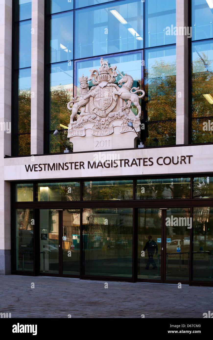 Westminster Magistrate Court, Marylebone, LondonUK, Europe - Stock Image