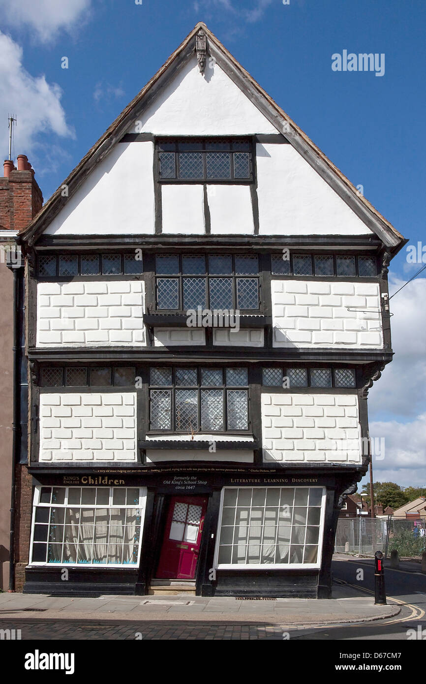 The Olde Kings School Shop Palace Street Canterbury - Stock Image