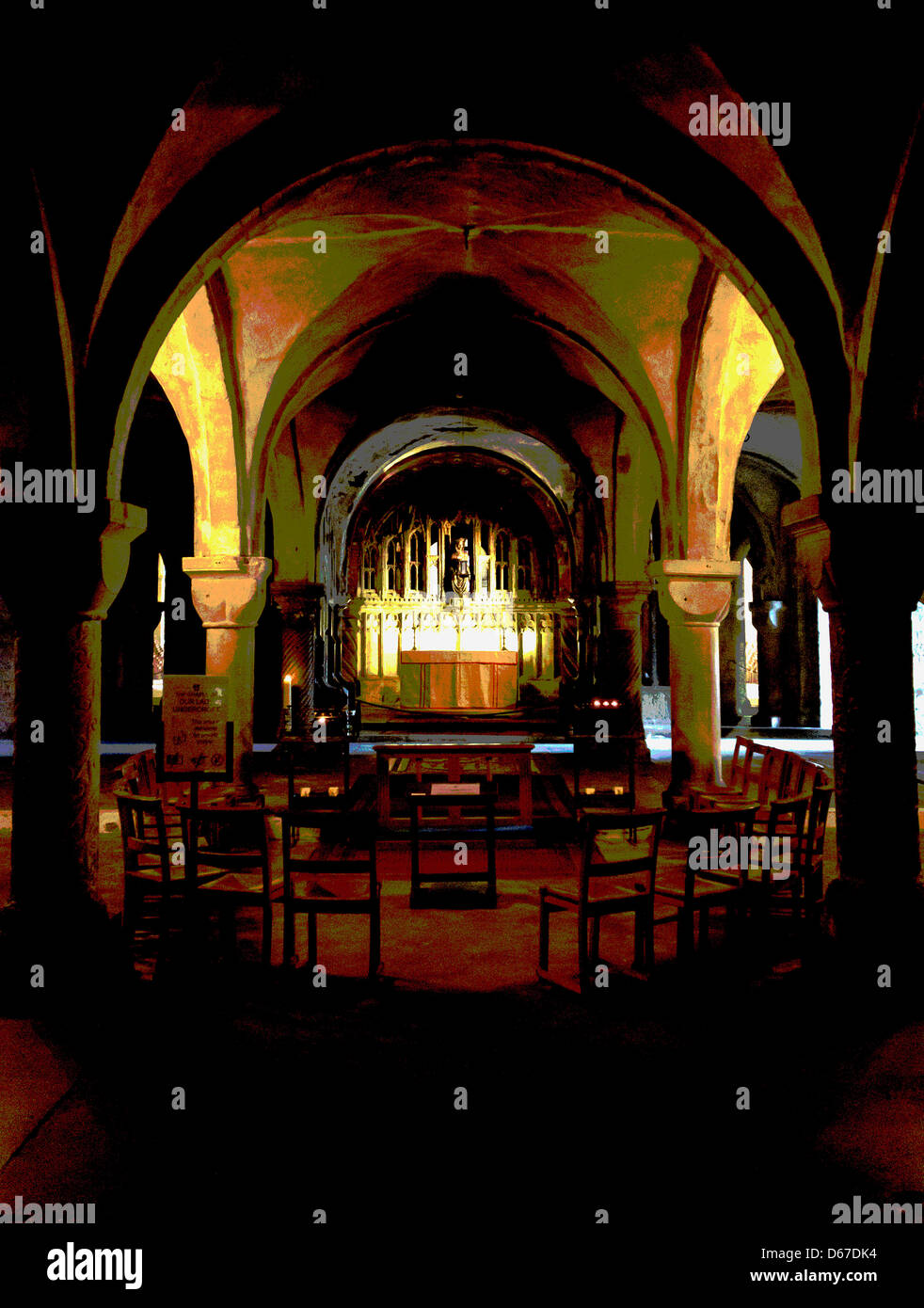 Chapel in a Crypt  Creative Photography - Stock Image