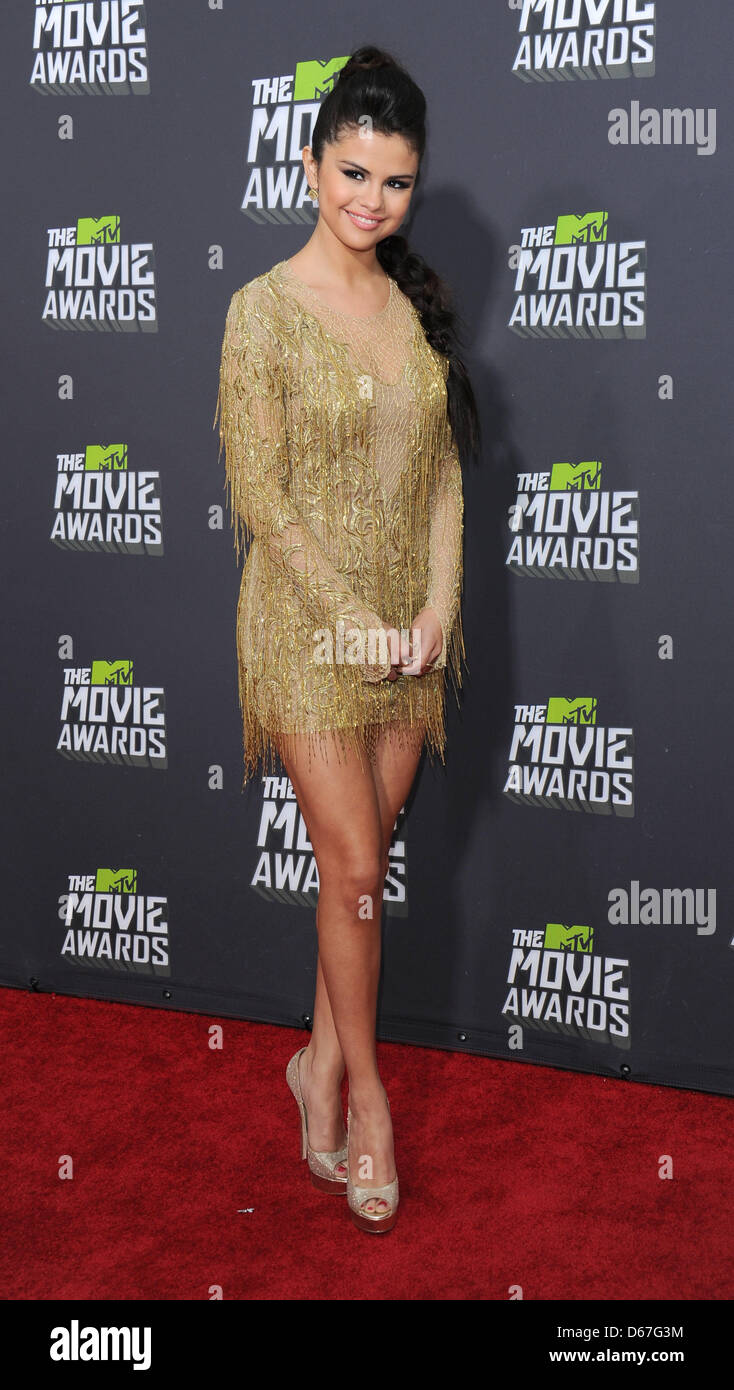Los Angeles, CA, USA. April 14th 2013. Selena Gomez at the MTV Movie Awards in Los Angeles. Credit: Sydney Alford/Alamy - Stock Image