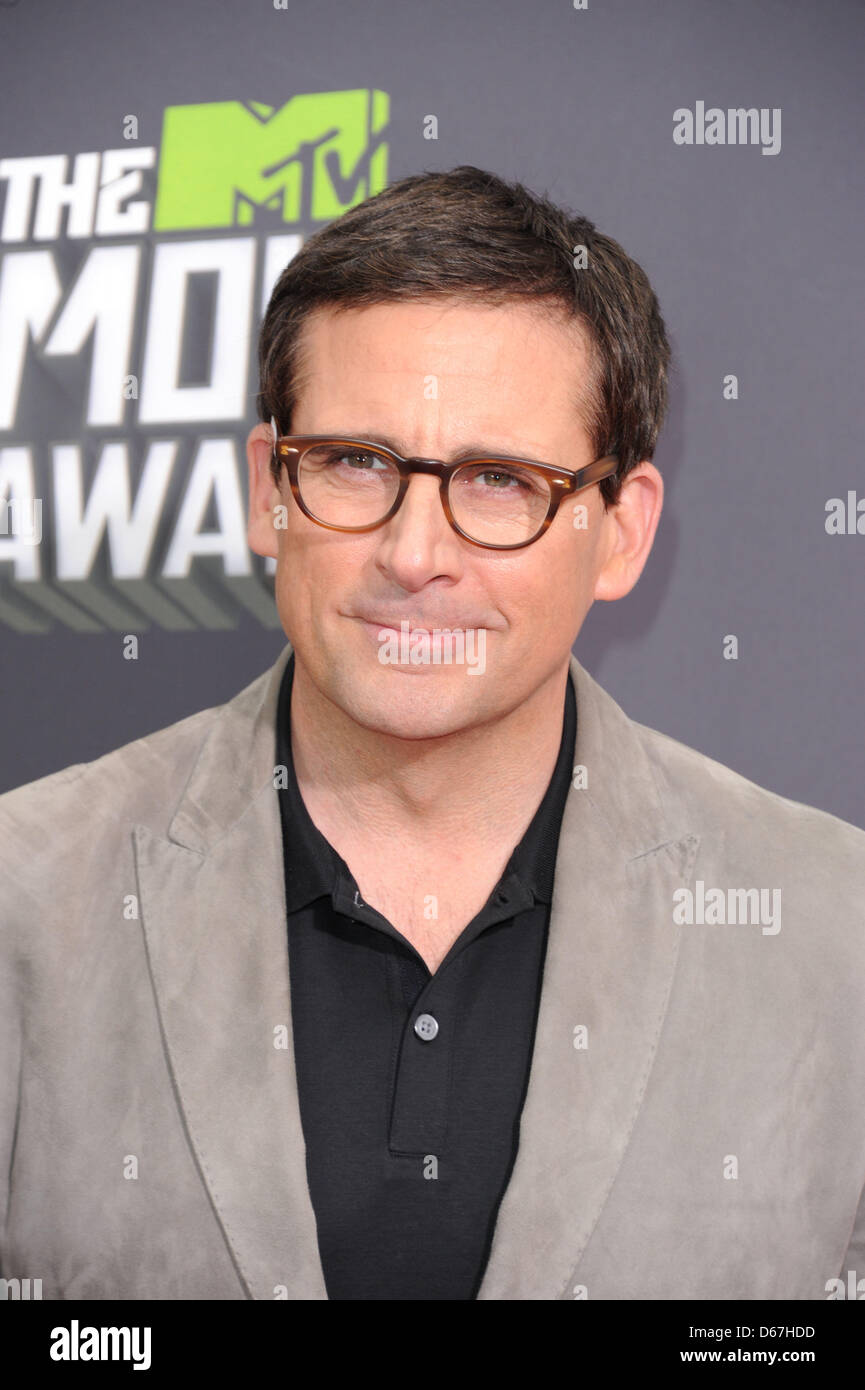 Culver City, Los Angeles, USA. 14 April 2013. US actor Steve Carell arrives at the 2013 MTV Movie Awards at Sony - Stock Image