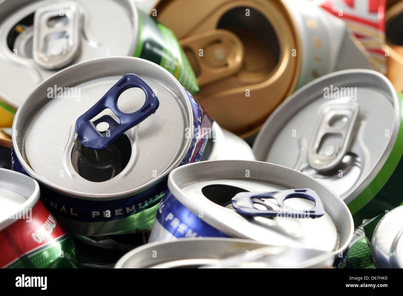 garbage,drink can - Stock Image