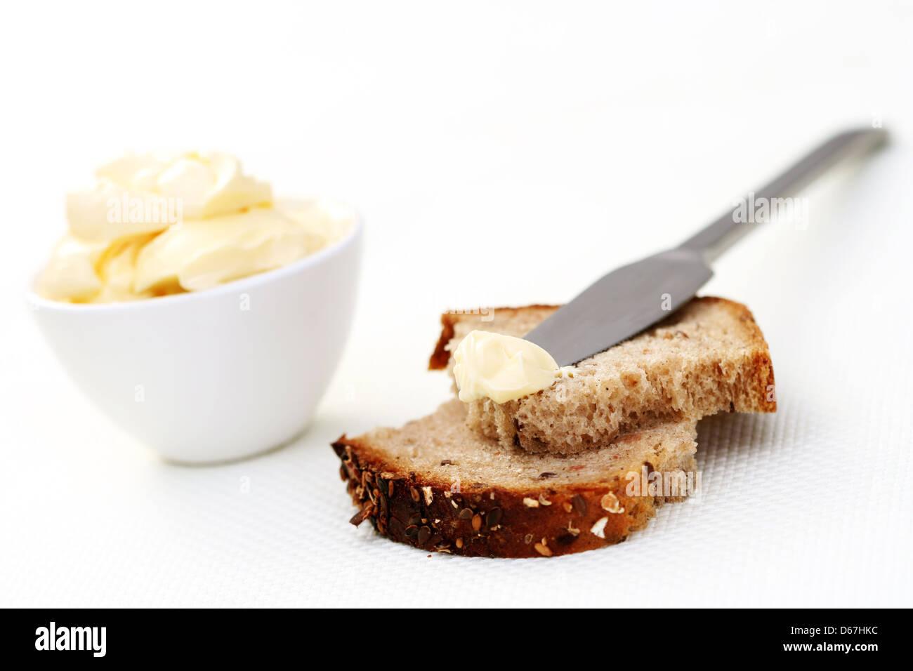 bread,sandwich,lubricate - Stock Image