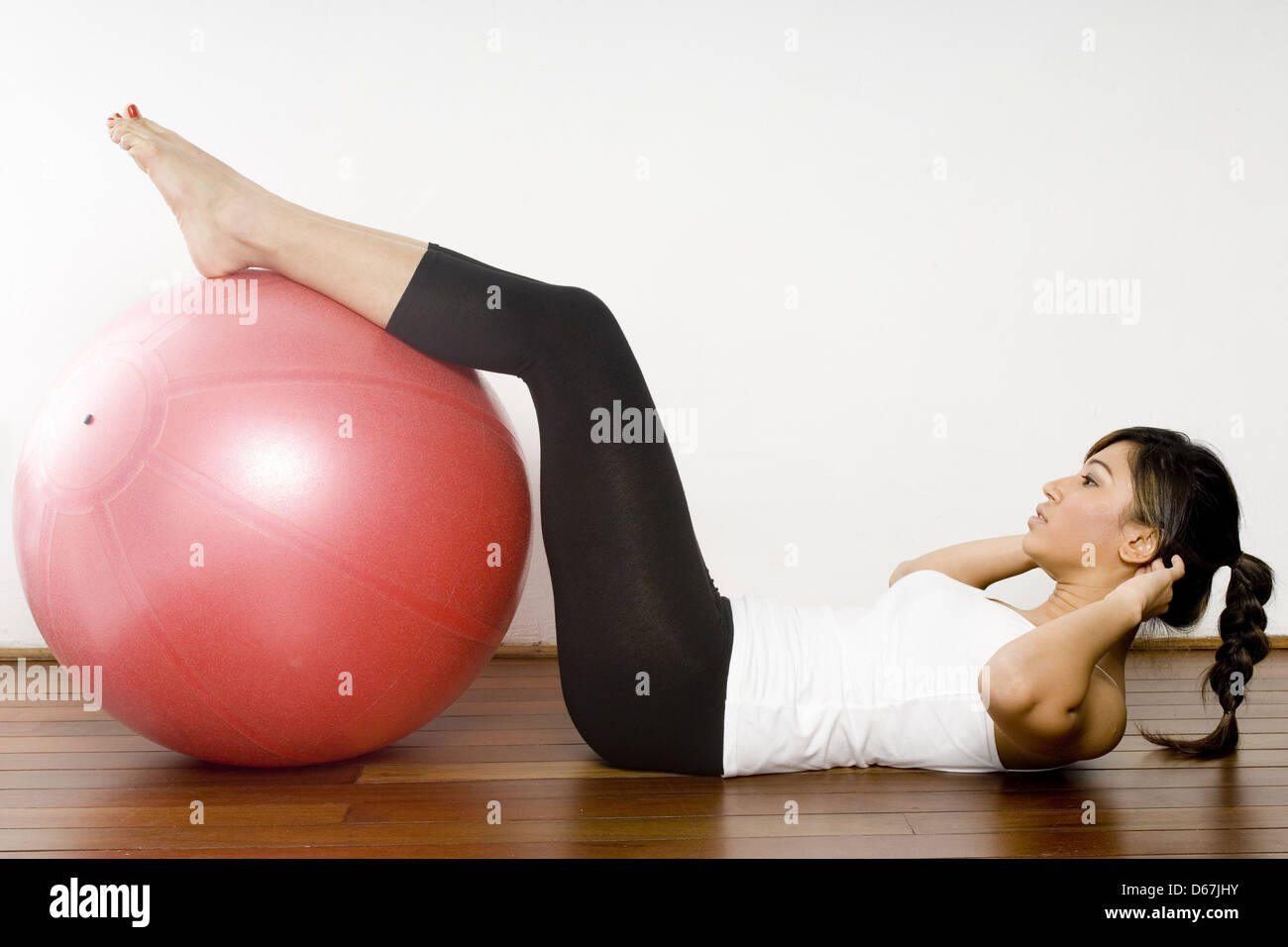 physiotherapy,sit-ups,abdominal exercise - Stock Image