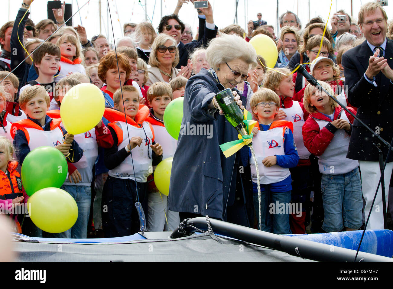 Dutch Queen Beatrix attends the celebrations of the 100th anniversary of the Royal Water Foundation Loosdrecht (KWVL) - Stock Image