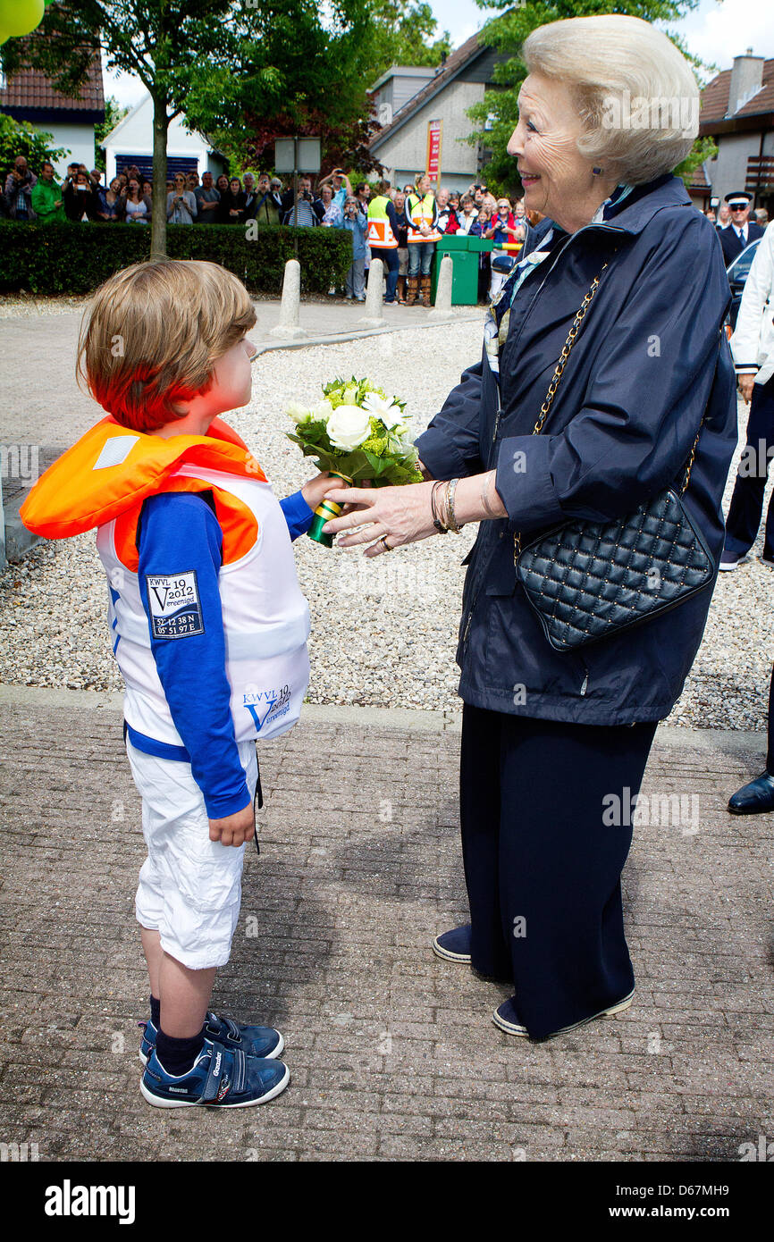 Dutch Queen Beatrix arrives for the celebrations of the 100th anniversary of the Royal Water Foundation Loosdrecht - Stock Image