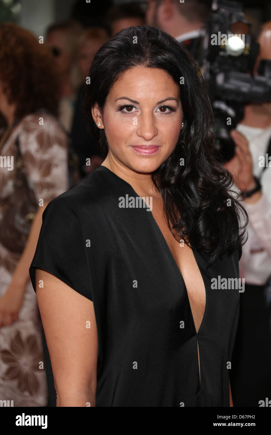 Producer Minu Barati-Fischer poses during the 22nd Diva entertainment award show at Hotel Bayerischer Hof in Munich, - Stock Image
